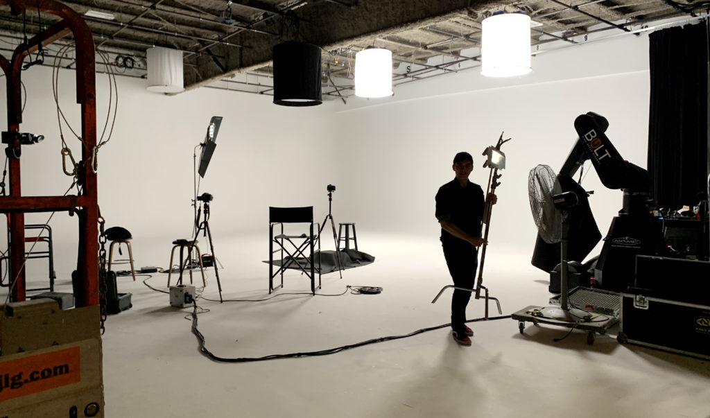 on set camera shoot
